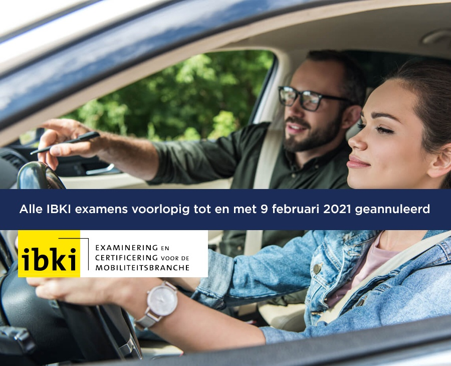 Alle IBKI examens voorlopig tot en met 9 februari 2021 geannuleerd